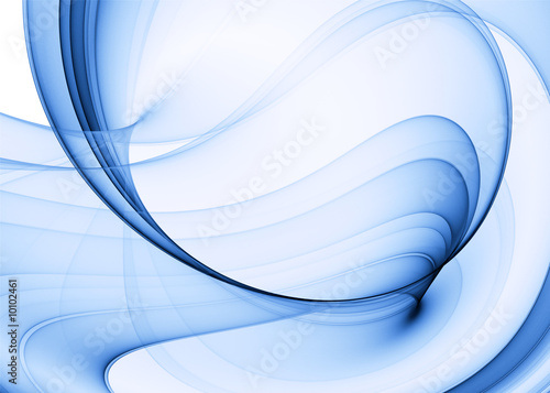 In de dag Abstract wave blue abstract background, high quality rendered image