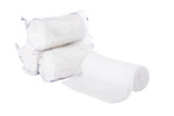 Gauze rolls isolated on a white background. poster