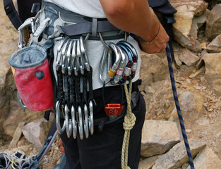 Kletterausrüstung Draußen