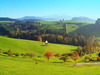 Appenzell rhodes....pâturages et vallonnements