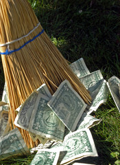 Sweeping up money
