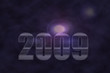 2009 New Year on a purple background