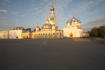 Old masonry church in Vologda, Russia