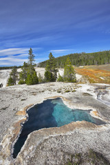 """The most beautiful hot spring in park - """"The Blue star spring"""""""