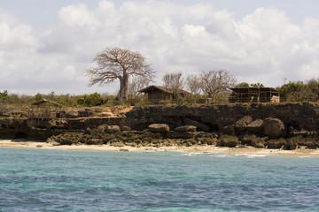 Fishermen huts. Pemba, Mozambique