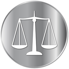 Scales of Justice button (silver)