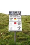 a warning sign about lifeguard rules in kerry ireland poster