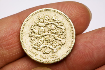 Used Pound Coin Close-Up