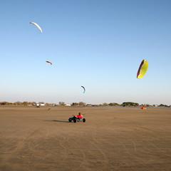 Kite buggy à Beauduc Plage