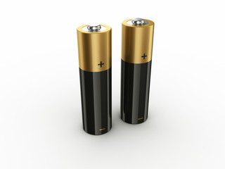 3d rendering of 2 batteries
