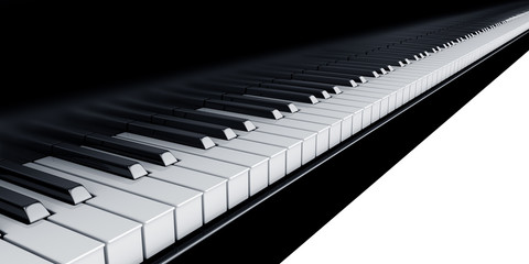 3d rendering of piano keys