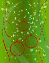 christmas card with Christmas symbols