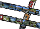 Illustration  filmstrips with travel photos. Norway, Scandinavia poster