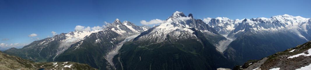 Chaine montagne mont blanc