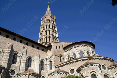 Part of Saint Sernin Basilica in Toulouse, France