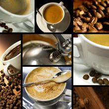 Kawa kolaż, czas kawa, relaks