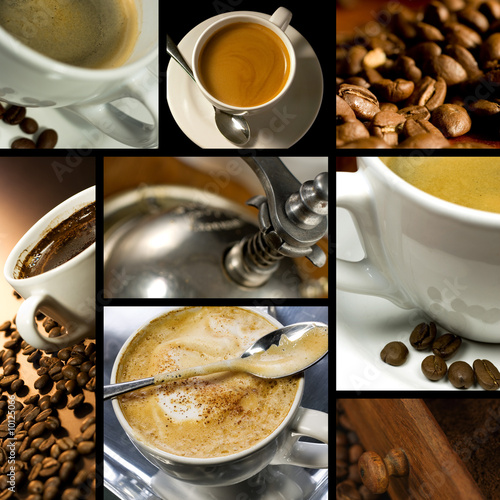 Coffee themed collage, coffee time, relax - 10125066