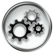 Tools icon grey, isolated on white background.