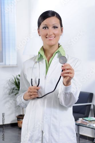 health service with stethoscope