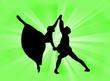canvas print picture - Coppia danzante