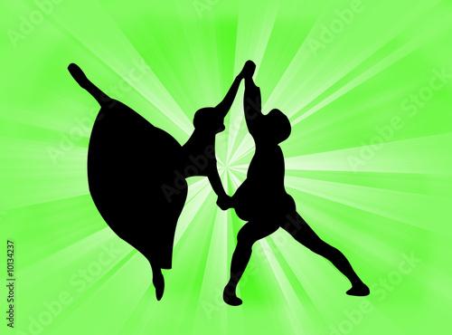 canvas print picture Coppia danzante
