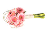 Pink gerbera bridal or bridesmain bouquet.