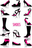Fototapete Vektor - Gestalten - Schuhe