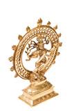 Indian hindu god Shiva Nataraja - Lord of Dance Statue isolated poster