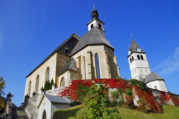 Parish Church and Church or our Lady - Kitzbuhel Austria