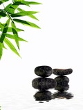 bamboo and pebbles, Zen atmosphere. poster