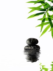 bamboo and pebbles, Zen atmosphere.