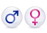 Boules de cristal masculin et féminin poster