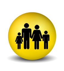 Family Icon - yellow