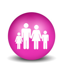 Family Icon - pink