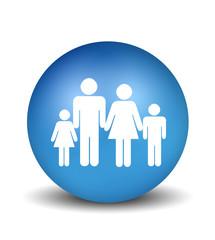 Family Icon - blue