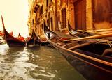 Fototapety Traditional Venice gondola ride