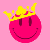 Fototapety Pink smiley face with crown