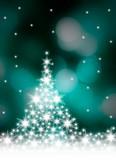 Fototapety Christmas background with white snowflakes