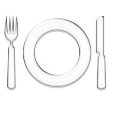 Assiette et couverts