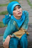 beautiful muslim girl poster