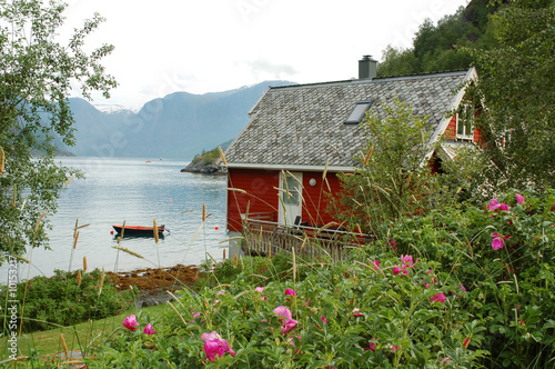 Cottage in Fjords, Flam, Norway