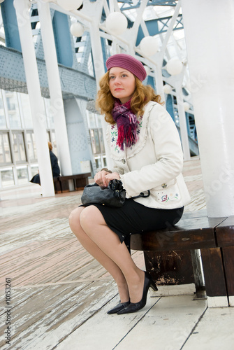 Middle age woman waiting for somebody for date