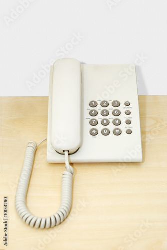 Phone. Stationary phone with a push-button set of number