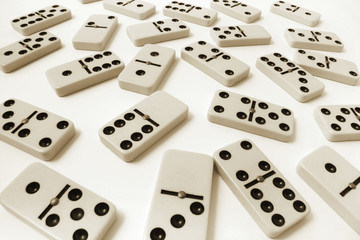 Multiple Dominoes on Seamless Background
