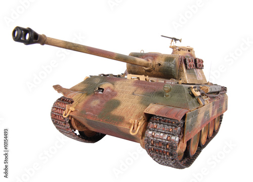 Model of tank Panther isolated