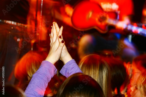 people at a live concert, motioneffect,