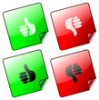 Thumbs UP & DOWN icons - vector
