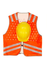 safety-gear on white.