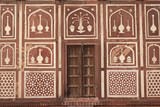 Ornate Wall of Islamic Tomb in Agra poster