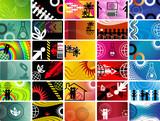 Set of scientific cards poster
